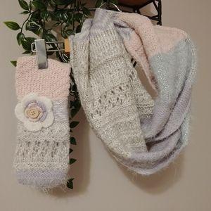 Knit Scarf and Headband Set